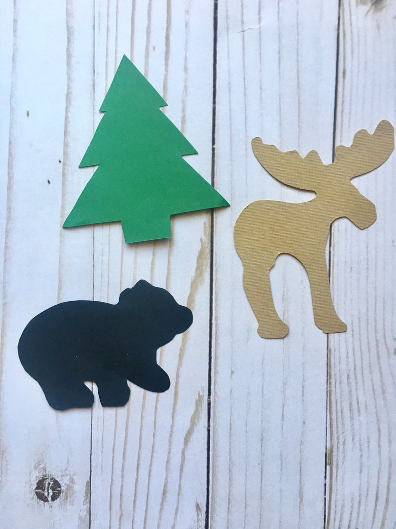 Camping Party Decorations Forest Cutouts Hunting Party Etsy