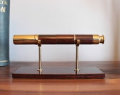 Brass Rosewood quot Tanglewood quot Series Hand Held Telescope with Stand by Van Cort