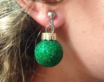 Christmas Ornament Earring Holiday Gift Present.