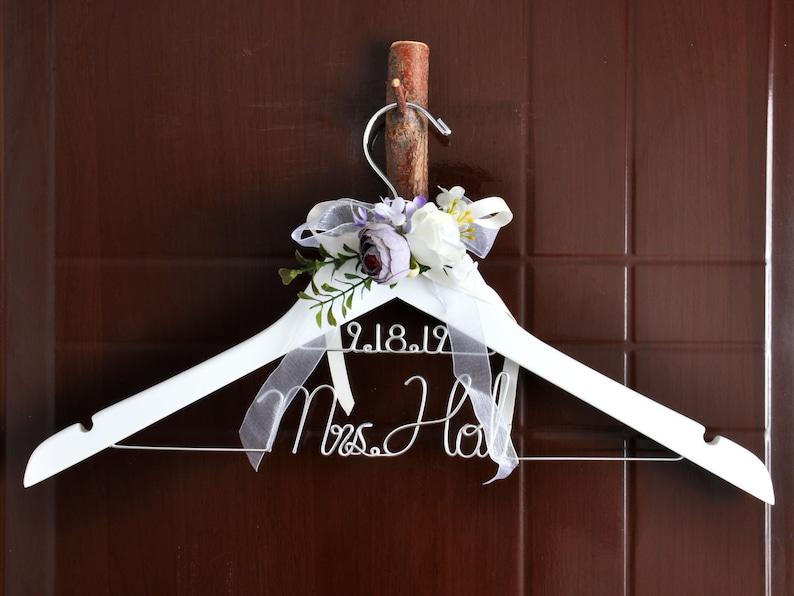Personalized custom bridemaid hanger SET 8-10 Double layer Hanger--Bride flower wedding hanger,Wedding hanger