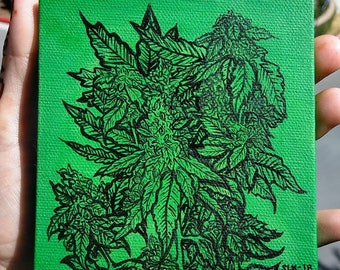 Cannabis Plant Painting