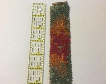 Right angle weave swarovski crystal bracelet
