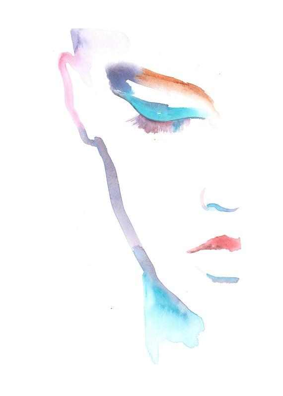 Fashion Watercolour Beauty Room watercolour painting eyelashes office print