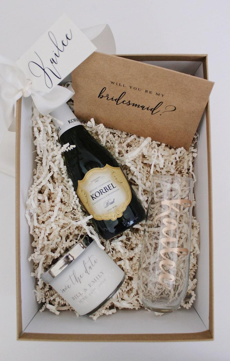 Bridesmaid Proposal Box  Bridesmaid Gift  Maid of Honor Box image 0