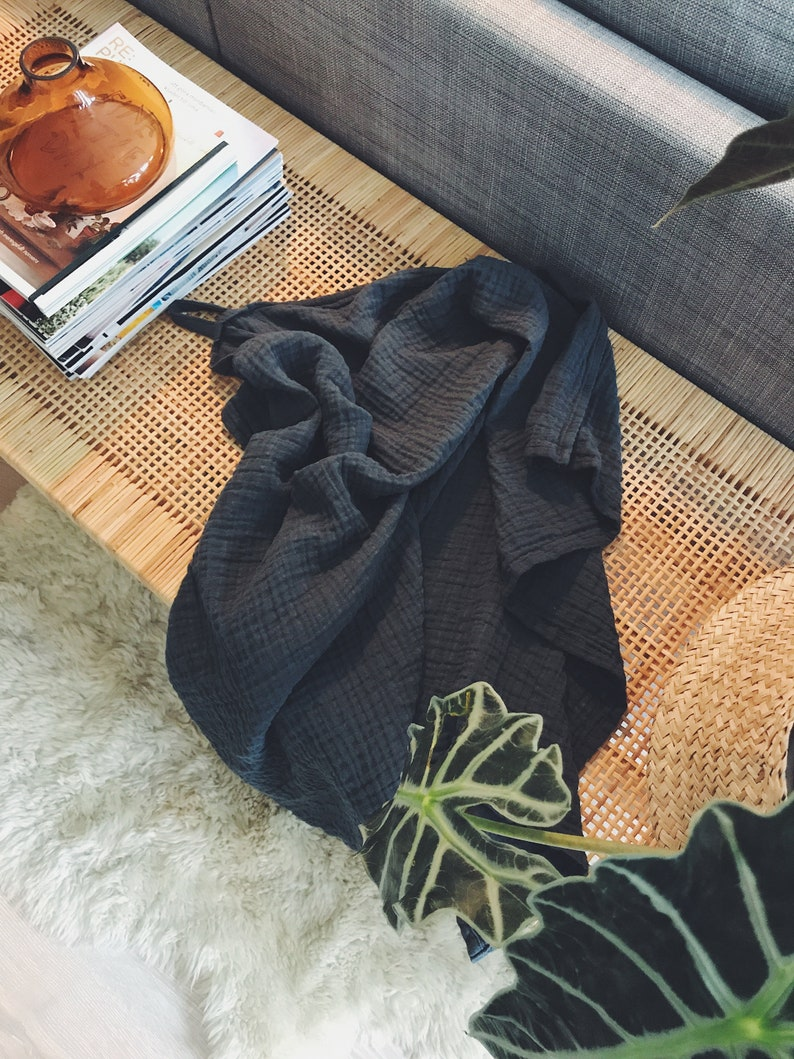 Great gift! Graphite grey baby blanket for newborn or child.