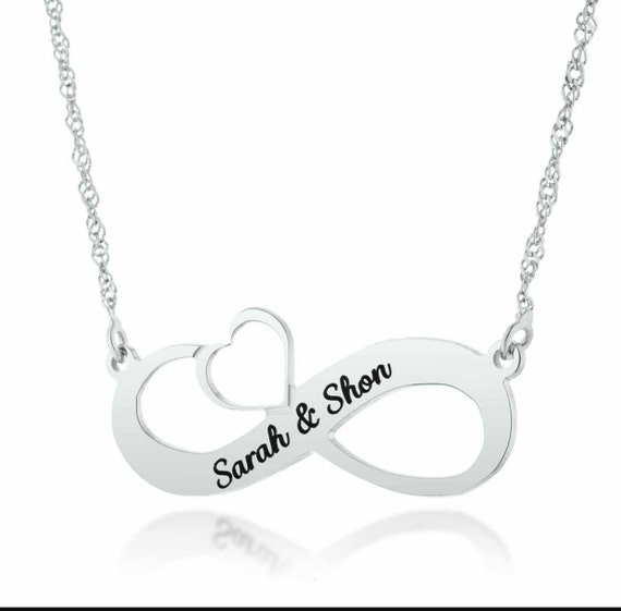 Sterling Silver Love You Fur-ever Personalized Infinity Name Necklace by JEWLR