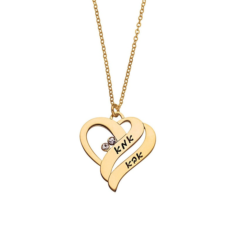 Heart Russian Name Necklace \u2022 Customized Heart With Wave Cyrillic Font Jewelry \u2022 Personalized Heart Necklace \u2022 Any Russian  NameWord \u2022