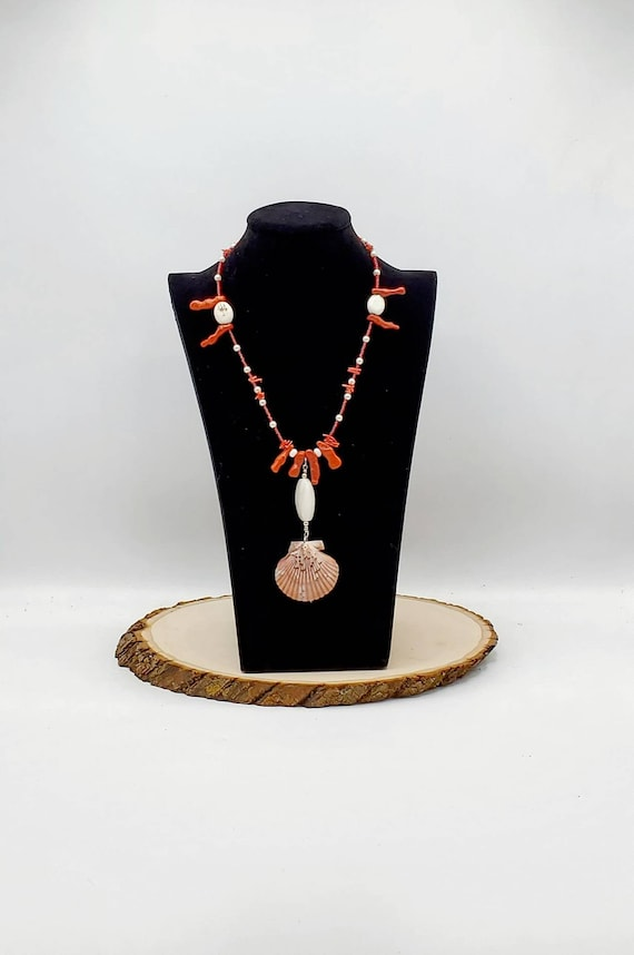 Coral & Shell Statement Necklace