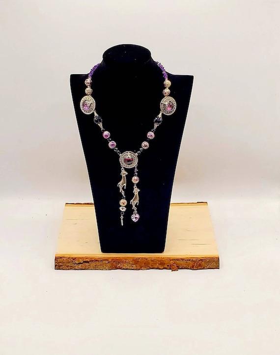 Amethyst Victorian-Style Statement Necklace