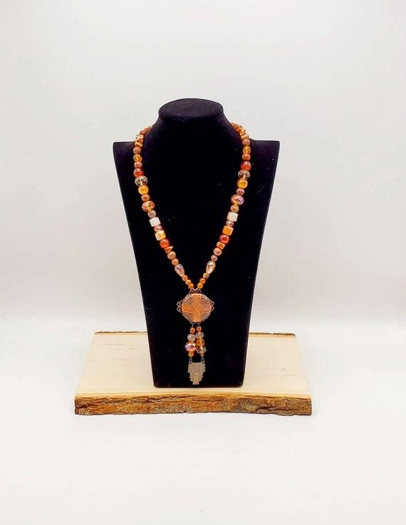 Carnelian Art Deco Statement Necklace