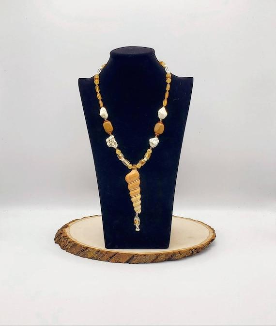 Spiral Shell Statement Necklace