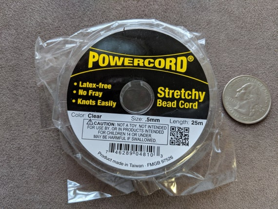 0.8mm Clear Powercord 8.5 Pound Test No Fray Elastic Jewelry 25 Meter Spool