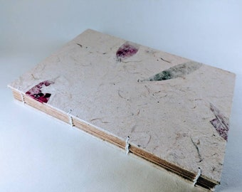 Handmade Coptic stitch book 21 x 15cm