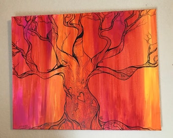 Gnarled Sunrise Tree