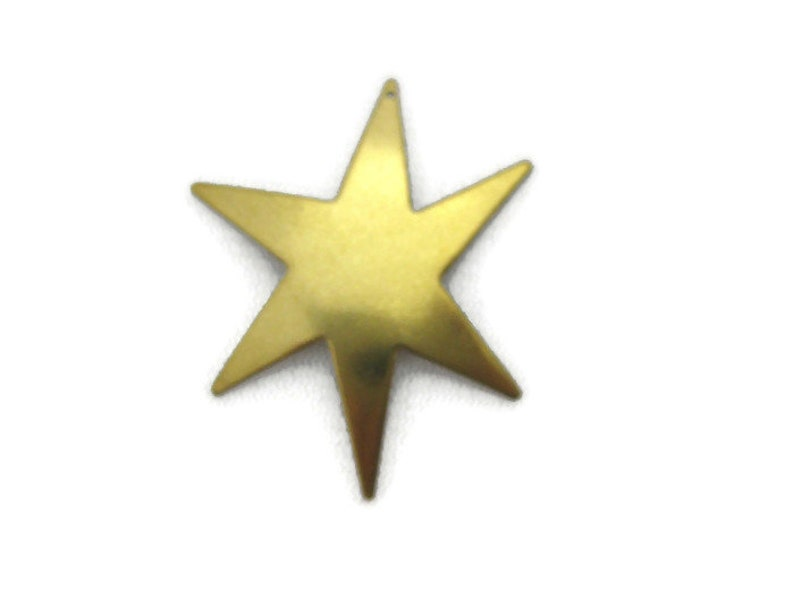 Made in the USA Vintage Design Antiqued Brass Retro Dapt Large Star Burst Charm 2 pieces