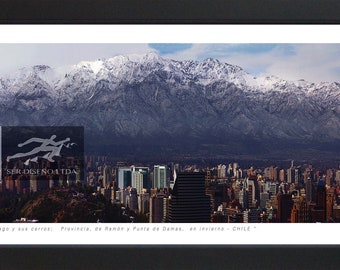 Places of Chile-photo/photography includes black wood frame and glare glass