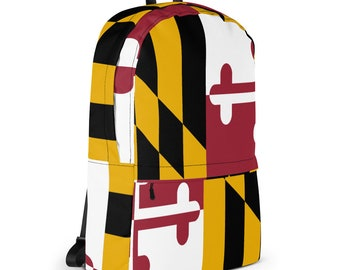 Maryland Flag Backpack | Maryland Flag Bag | Maryland Bag | Maryland Flag | Orioles Backpack | Ravens Backpack