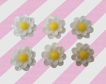 flower cabochons 51020pcs Metallic flowers daisy flower decoden set