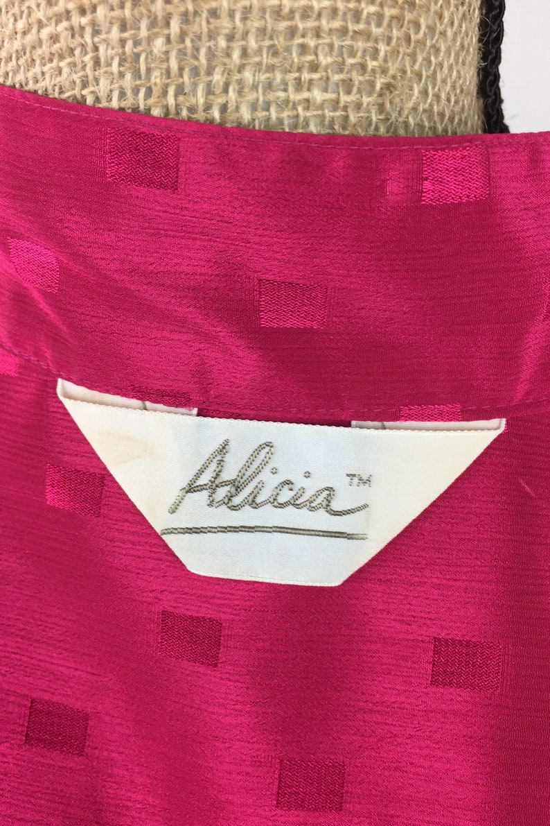 The 80/'s Alicia Hot Pink Blouse