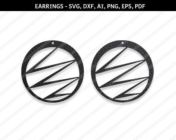 Earrings svg Jewelry svg Geometric earrings svg Earrings vector,Modern earrings-svg,dxf,ai,eps,png,pdf leather jewelry,Cricut silhouette