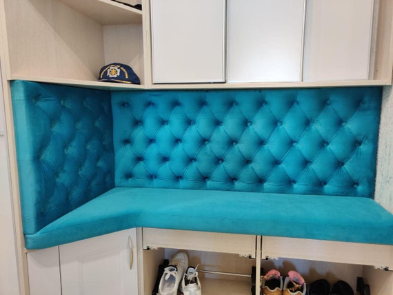 Personalized/Custom Made Wall Panels and Bench Seat/ Hallway Furniture/ Tufted Wall Panels and Seats/ Any Size -Easy to Install