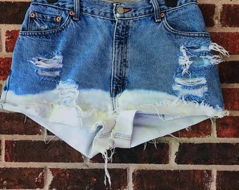 High-Waisted Vintage Levi Distressed Shorts