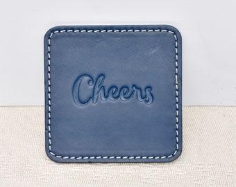 100 % Genuine Leather Coasters - Set of 4