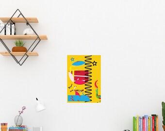 Art Print/Contemporary Printable  Wall Art-Colorful Modern Design Prints/Digital Download