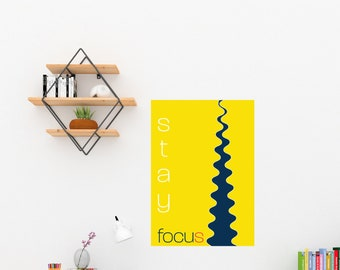 Art Print/Stay Focus/Printable  Wall Art/Colorful Abstract / Contemporary Design Prints/Digital Download