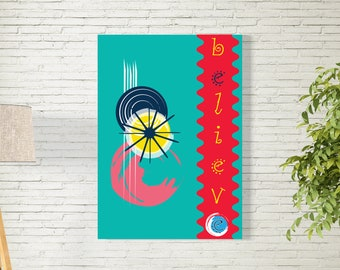 Art Print/Be You/Printable  Wall Art/Colorful Minimalist Art / Contemporary Design Prints/blue/Digital Download