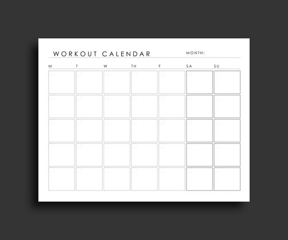 picture regarding Printable Workout Calendars known as Exercise session Planner Printable Work out Calendar Exercise Tracker Fitness Planner Physical fitness Calendar Exercise Planner Printable Planner 8.5 x 11