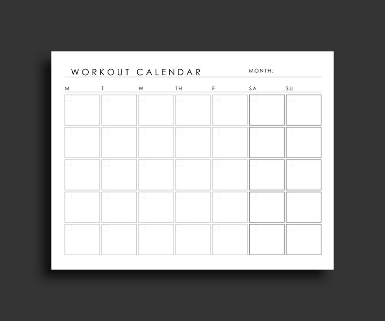 graphic about Printable Workout Calendar named Work out Planner Printable Training Calendar Health Tracker Health Planner Physical fitness Calendar Exercise Planner Printable Planner 8.5 x 11