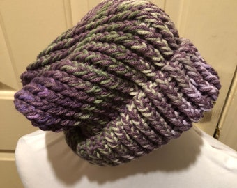 PURPLE CROCHETED CAP