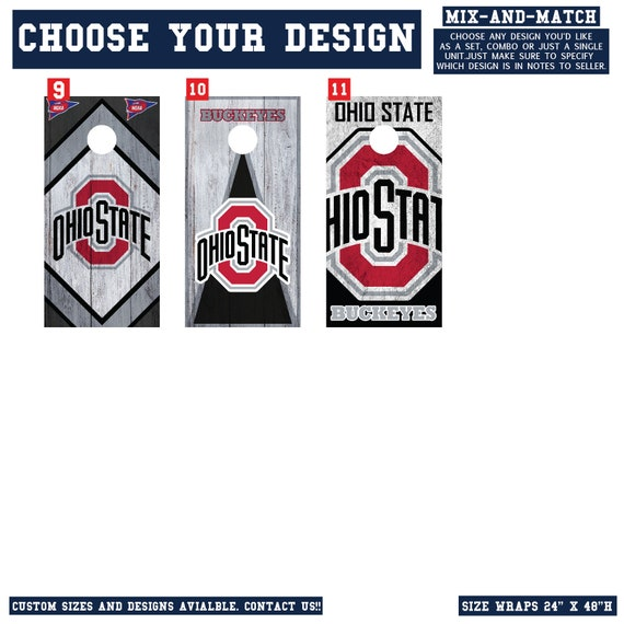 Chicago Blackhawks 031 custom cornhole board vinyl wraps stickers posters decals