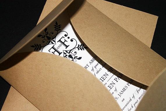 Pochette Folder 12pk Folder Zaproszeń Pochette Etsy