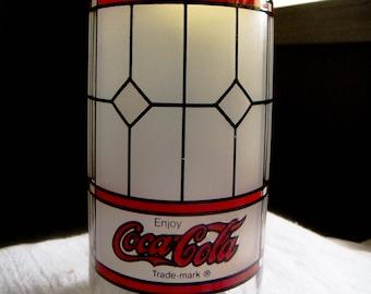 Vintage Tiffany Coca-Cola Glass 1970's