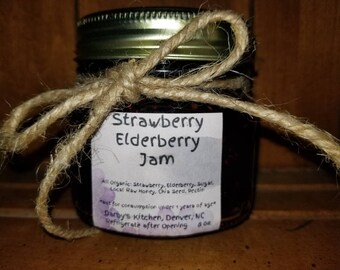 8oz jar Elderberry Jam