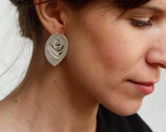 Silver earrings TOPOGRAFIES