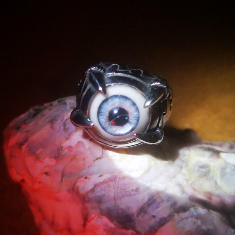 Djinn Eye of Cat Magick Vessel Haunted Companion Witch Talisman Ring Sz 8