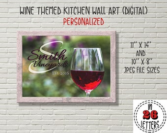 Wine Theme Decor Etsy