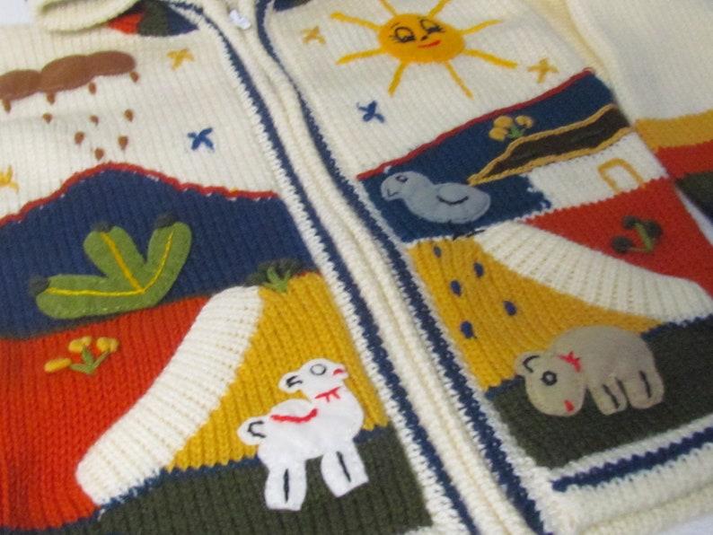 Children/'s jacket Arpillera for childrenWool embroidered Jacket for kids Hooded Jacket Girl Boy sweater cardigan
