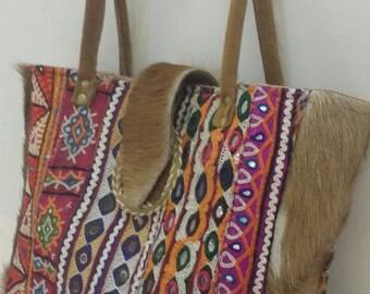 banjara traditional  Indian handmade vintage lather handbag