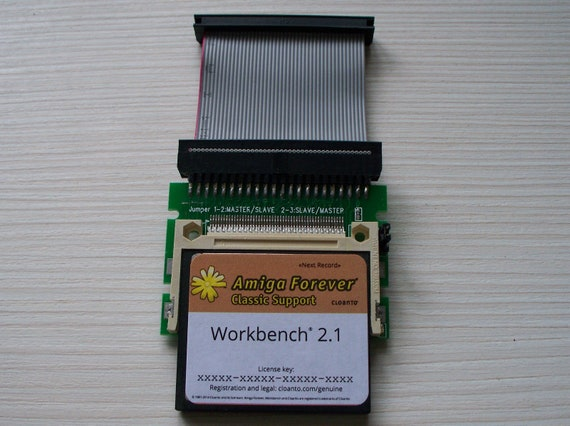 Adattatore Amiga 600 1200 Disco # Nuovo Workbench Sistema 2.1 su 4GB Cf Scheda