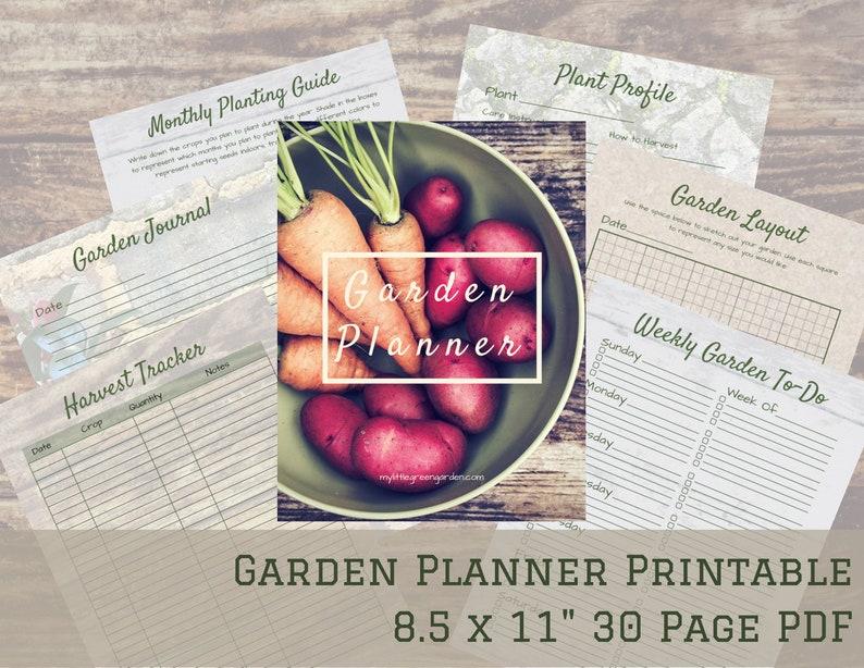 Garden Planner and Journal  Printable PDF  Calendar 2021  image 0