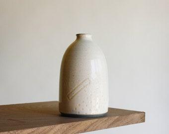 Dots II bottle handmade white pottery ceramics