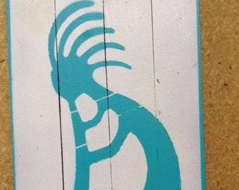 Kokopelli Sign - on paint stir sticks