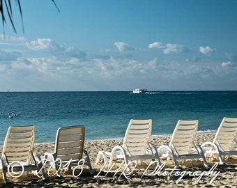 5 x 7 Photographic Print of Beach Chairs