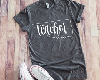 1e6372f2535 Personalized State Teacher Shirt - Teacher Shirt - Teacher T Shirt - Teacher  Gift - Teacher Shirt for Women