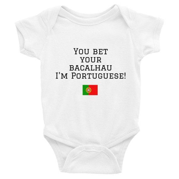 You Bet Your Bacalhau Im Portuguese Infant Bodysuit Etsy