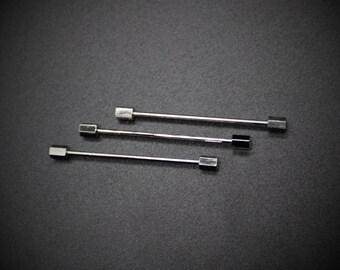 Silver Collar Pins Octagon Collar Bars Octagon Collar Bars Silver Octagon Collar Bars